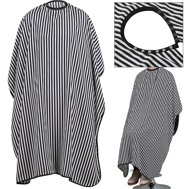 TRIXES voller Länge schwarz weißen monochromen Friseure Kleid größenverstellbar Water Resistant schützende Cape