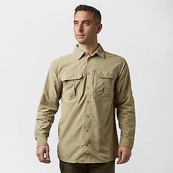 Nieuwe Brasher Men's Travel Backpacking Long Sleeve Travel Shirt Beige