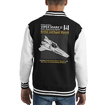 Battlestar Galactica Viper Service en reparatie handleiding Kid's Varsity Jacket