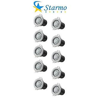 10 x Starmo Fire Rated Recessed Ceiling Spotlights Starmo GU10 LED Bulbs Various Colours
