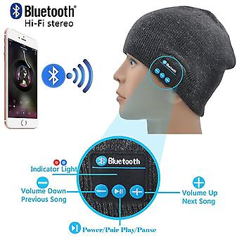 (Dark Grey) Unisex One Size Winter Bluetooth Beanie Hat with Built-in Wireless Stereo Speaker Headphone For BLU Tank Xtreme 2.4