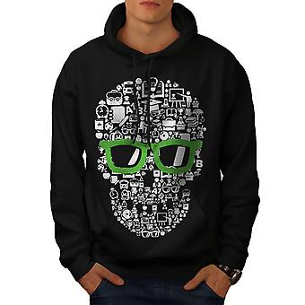 SWAG sang-froid Face à Skull hommes BlackHoodie | Wellcoda