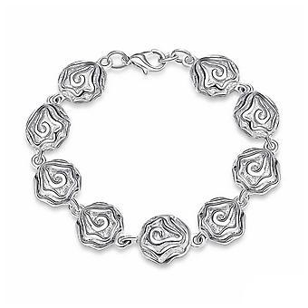 Womens Damen Rose Design Charme Barcelet Armreif Hummer in der Nähe BG1725