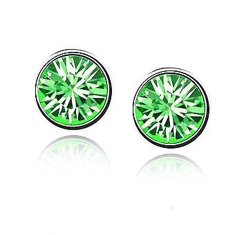 Damen Mädchen kleine Crystal Gestüt Ohrringe Schmuck grün