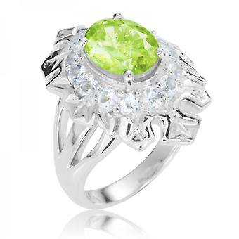 Shipton and Co Ladies Shipton And Co Silver And Peridot Ring RQA440PEWT