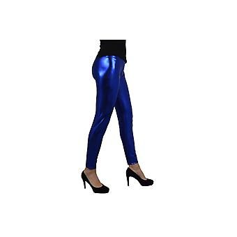 Stockings and leg accessories  Legging metallic blue
