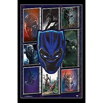 Black Panther - Collage affisch Skriv
