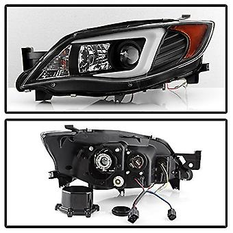 Spyder Auto 5083937 DRL LED Projector Headlights Xenon/HID Model Only Not Compatible With Halogen Model Black DRL LED Pr