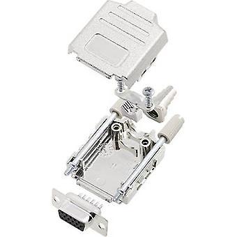 encitech DPPK09-M-HDS15-K 6355-0014-11 D-SUB opvangbakje set 180 ° aantal pinnen: 15 soldeer emmer 1 set