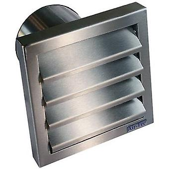 Wallair N31845 Extractor hood with backflow flap Stainless steel Suitable for pipe diameter: 10 cm