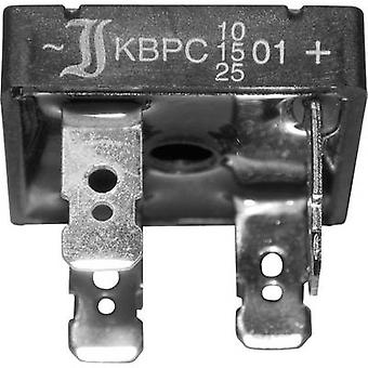 15-Diotec KBPC10-2501FP Diode bro KBPC 100 V 25 A 1-faset