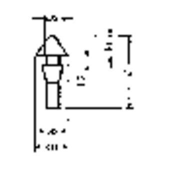 """1345-01 ברגל שחור הצמד (Ø x H) 15 מ""""מ x 9.6 mm"""