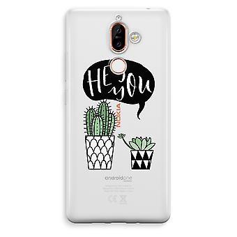 Nokia 7 Plus transparentes Gehäuse (Soft) - Hey du Kaktus