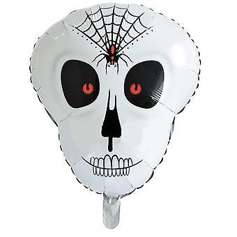Balão da folha do crânio TRIXES - decoração de festa assustador para Halloween e eventos temáticos