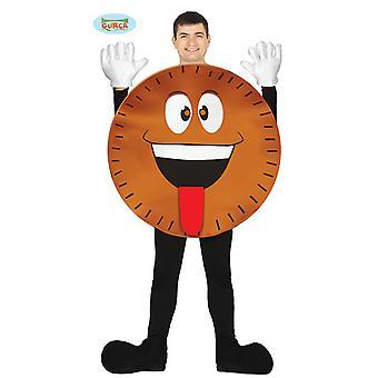 Disfraz de galleta Guirca para adulto unisex carnaval carnaval Emoji