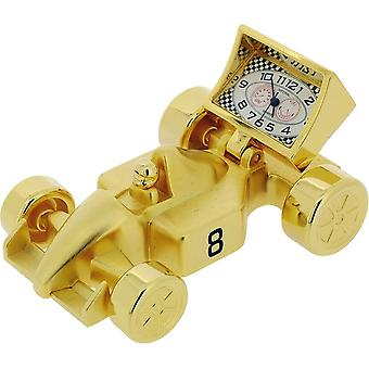 Gift Time Products Formula 1 Car Miniature Clock - Gold