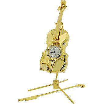 Cadeau producten viool miniatuur prikklok - goud