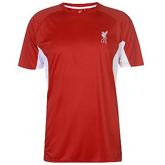 Source Lab Mens Liverpool Poly T Shirt Short Sleeve Performance Tee Top Crew