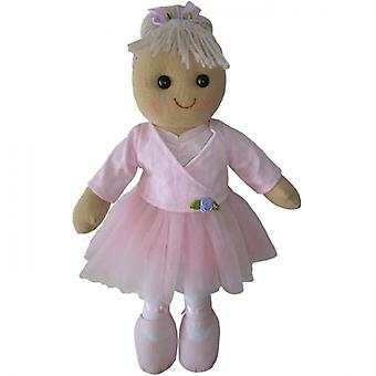 Powell Craft Childrens stof Rag Doll - ontwerp met balletdanseres