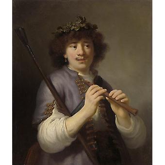 Rembrandt como pastor, Govert Flinck, 74,5 x65cm