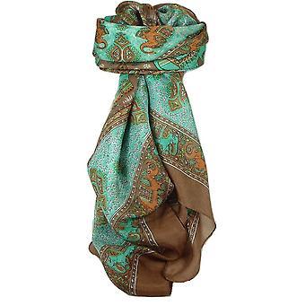 Clasic Paisley pătrat eșarfă Mulberry Silk dyal Sienna de pashmina & Silk