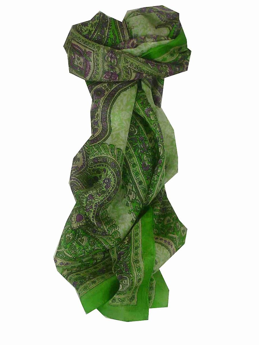 Mulberry Silk Traditional Long Scarf Kotta Lime by Pashmina & Silk