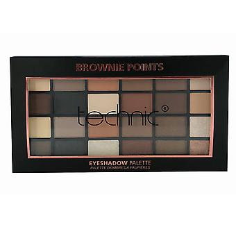 Technic 24 Shade Eyeshadow Palette Brownie Points