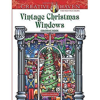 Kreativa oas Vintage Christmas Windows målarbok