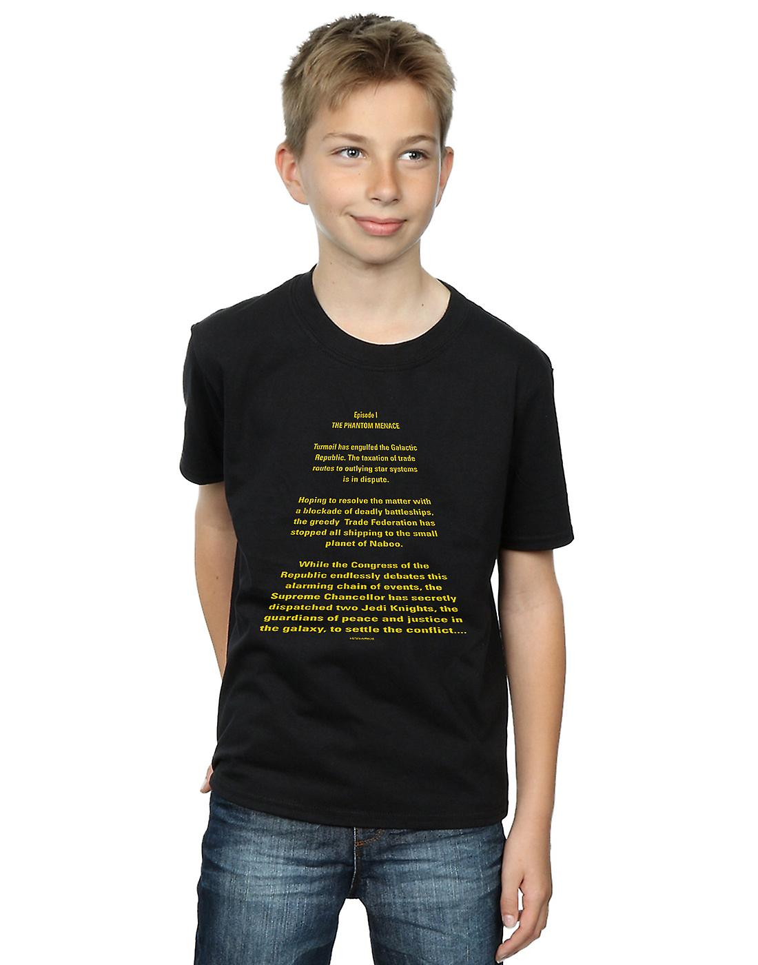 Star Wars Boys The Phantom Menace Opening Crawl T-Shirt