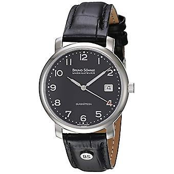 Bruno 17-13016-723-Time S_hnle wrist watch for men, black leather strap