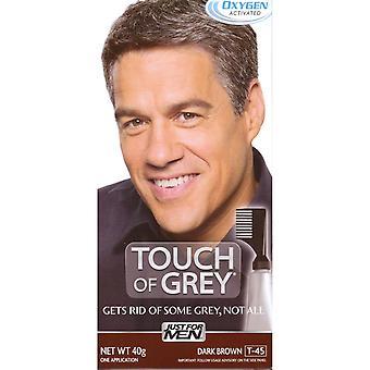 Touch Of Grey Mens Hair Treatment - Dark Brown Grey T45