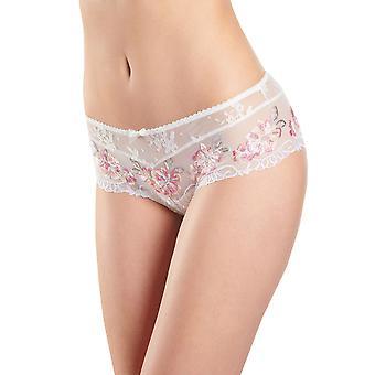 Aubade NB70 kvinners Reve Eveille Floral brodert nikkers Panty Full Saint Tropez kort