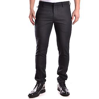 Dondup Ezbc051025 Men's Grey Wool Pants