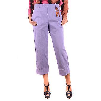 The Gigi Ezbc123001 Women's Purple Cotton Pants