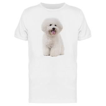 Bichon Frise Sticking Out Tongue Tee Men's -Image by Shutterstock