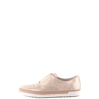 Tod's Ezbc025039 Women's Gold Leather Loafers