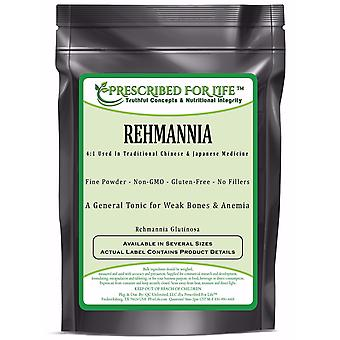 Rehmannia-4:1 pó de extrato de raiz de medicina tradicional chinesa (Rehmannia glutinosa)