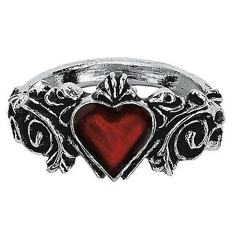Alchemie gotischen Betrothal Pewter Ring