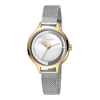 Esprit ES1L088M0055 Lucid Silver Gold Mesh Women's Watch