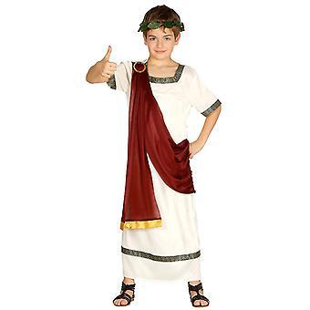 Boys Roman Caesar Toga Fancy Dress Costume