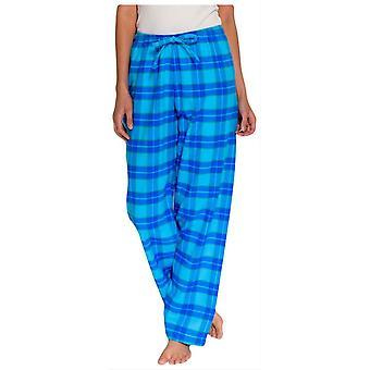 British Boxers Tartan to fold flannel pyjamas bukser-Aqua Blue