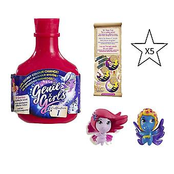 Genie Girls In A Bottle Collection 1 Pink - 5 X Bottles - Bundle