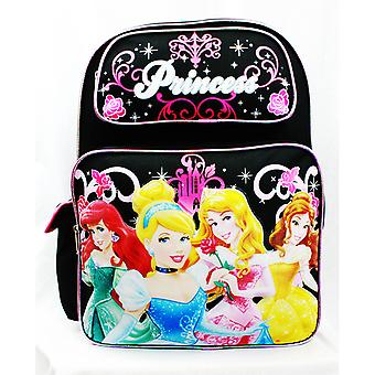 Backpack - Disney - 4 Princess Rose Bag Black School Bag New A05932