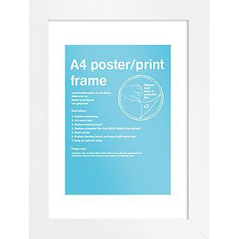 Eton vit ram A4 affisch / Skriv ut ram