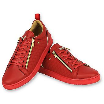 Sneakers - Jailor Red Gold - Rood