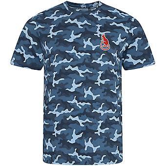 7. pansrede brigade-Desert rats-licenseret britisk hær broderet camouflage print T-shirt