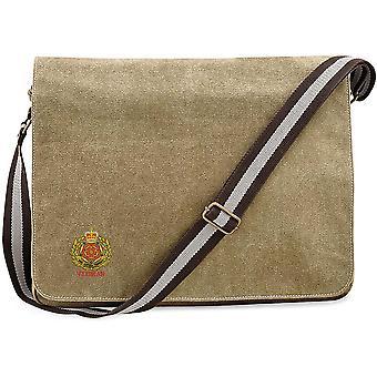 Duke Of Lancasters Regiment Veteran - Licensed British Army Embroidered Vintage Canvas Despatch Messenger Bag