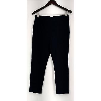Liz Claiborne New York Leggings Pull On Crop Length Navy Blue A264124
