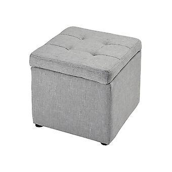 Grey linen mckenna grey linen ottoman stein world