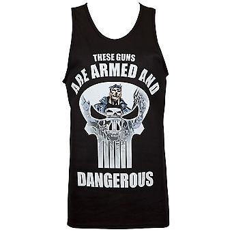 Punisher Guns sind bewaffnete und gefährliche Tank-Top